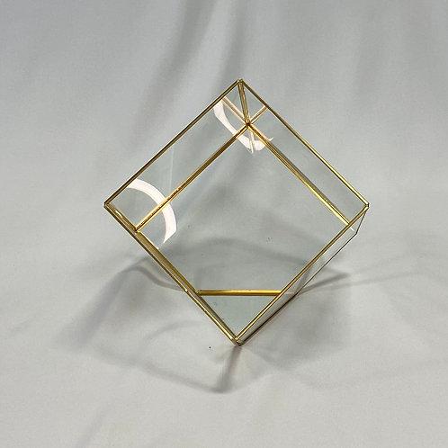 Glass Terrarium Tilted Cube
