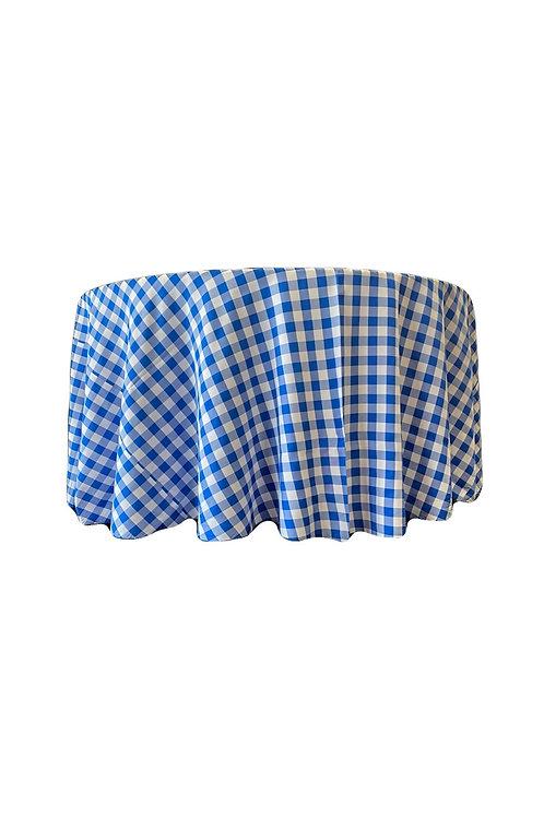 Blue/White Check Poylester