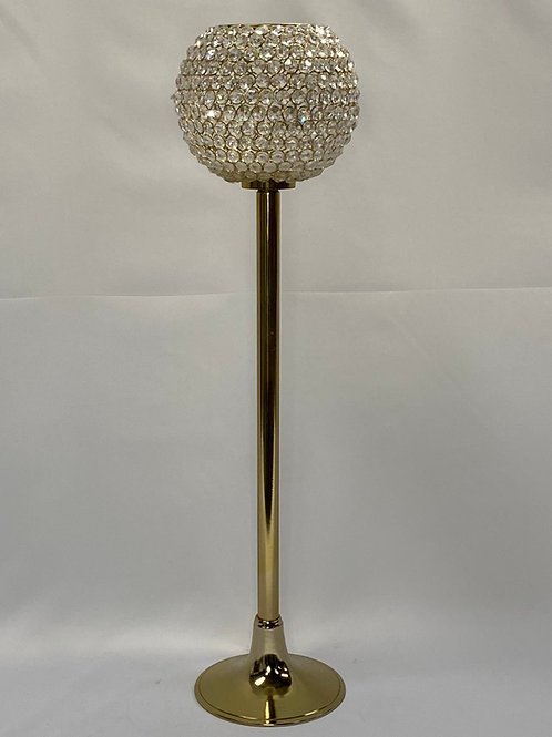 """Gold Bling Ball on Stand 9"""" x 33"""""""