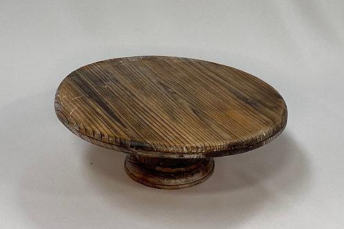 "11.5"" Wooden Pedestal Cake Stand"
