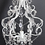 Thumbnail: Small White Bling & Iron Chandelier