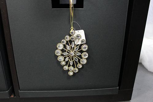 Oval Rhinestone Ornament