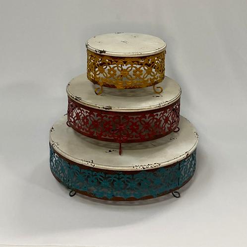 Vintage Color Cake Stands