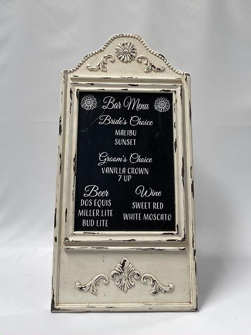 Cream Chalkboard Easel
