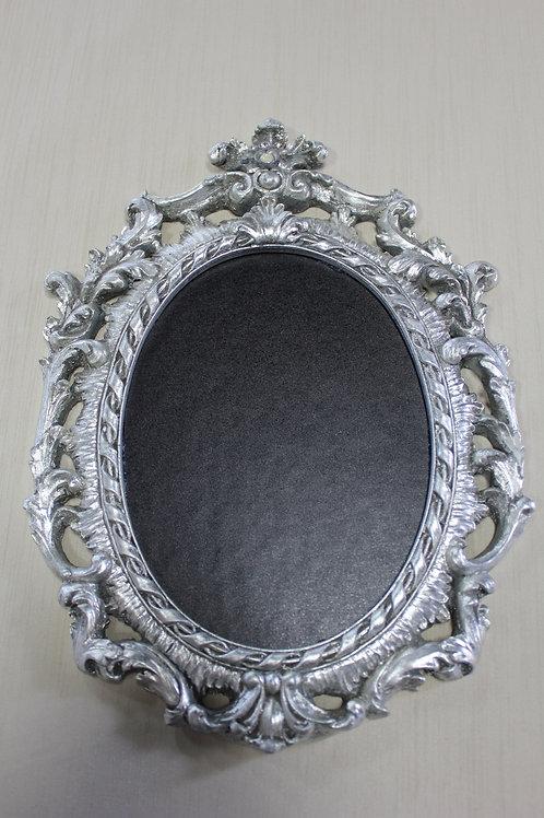 Silver Ornate Oval Chalkboard Frame