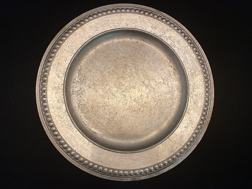 Champagne Beaded Charger Plates