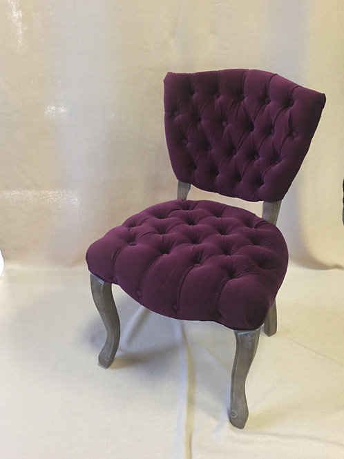 Burgundy Velvet Chair