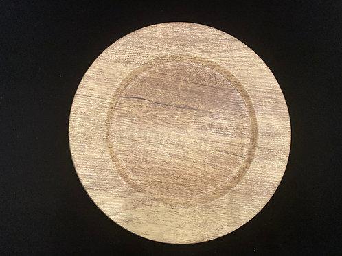 Natural Wood Charger Plates