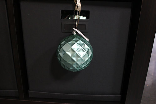 Light Blue Matte Shatterproof Ornament