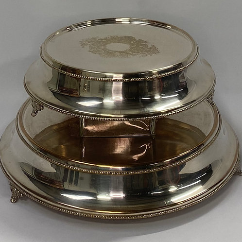 Silver Tapered Cake Plate