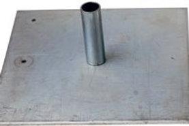 "18"" x 18"" base plate for 8' adjustable upright pole"