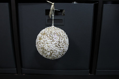 Frosted Gold Glitter Ornament