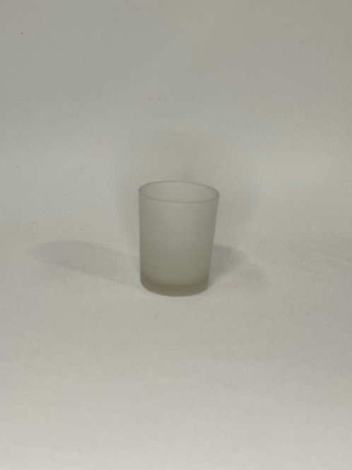 Frosted Votive with LED light
