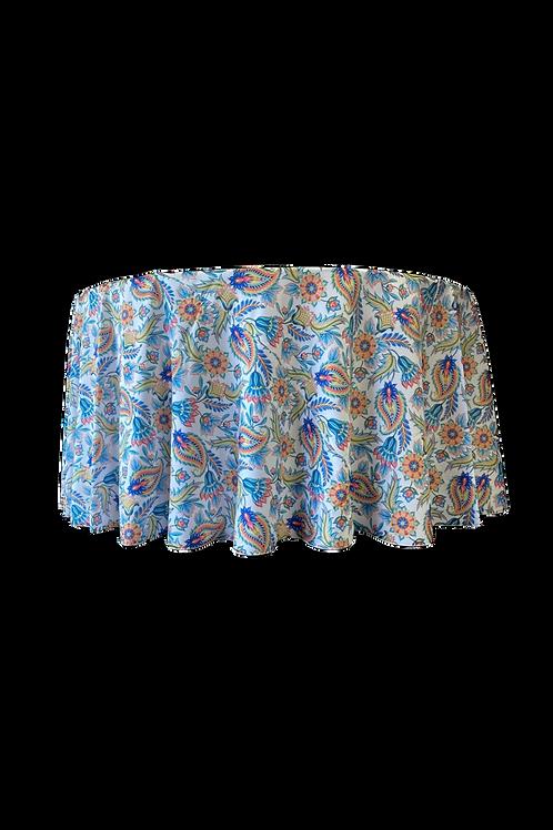 Linen Print Asian Paisley