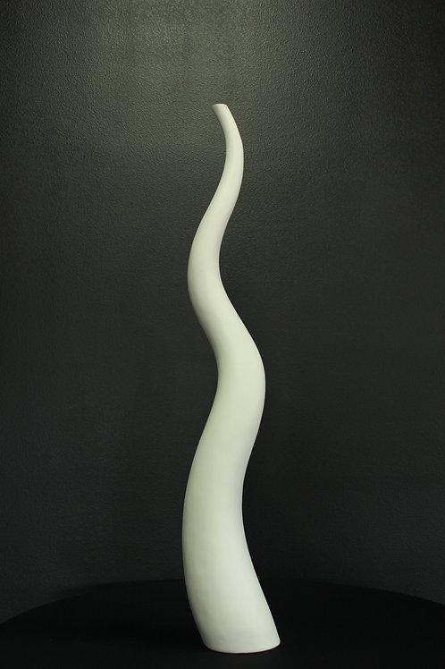 White Retro Wave Vase