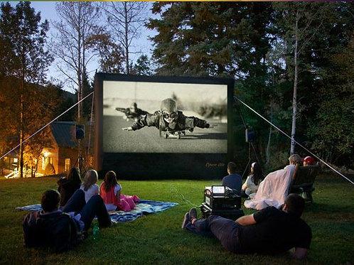 Outdoor Movie Screen & Projector