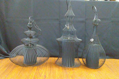 Modern Lanterns with Black Shades