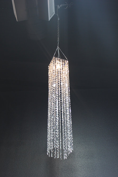 4' Square Clear Crystal Chandelier