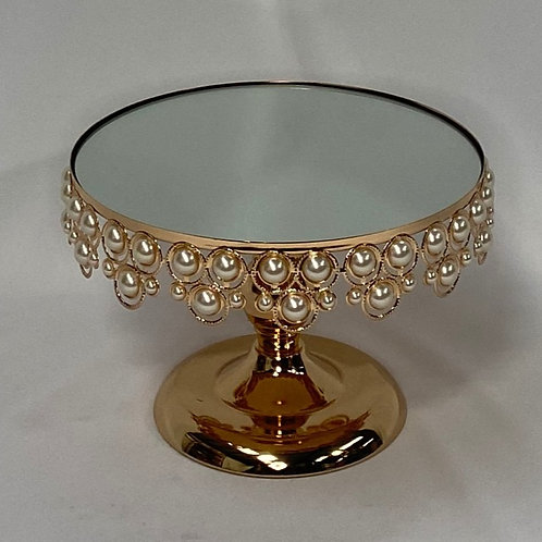 Gold Pearl Cake Stand