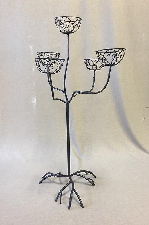Metal Flower Basket Tree