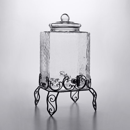 Hammered Punch Jar with Stand