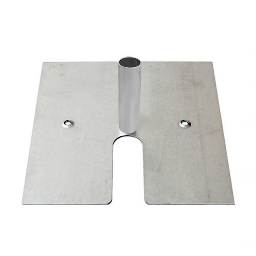 """16"""" x 14"""" base plate for 8' upright pole"""