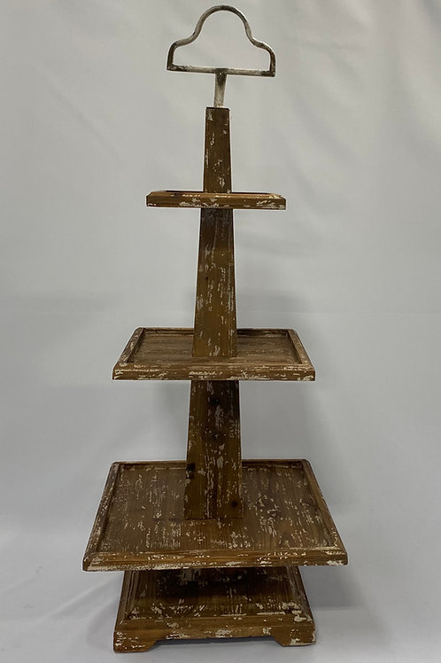 Rustic Wooden Cupcake Stand