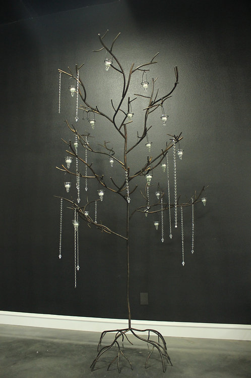 10' Metal Tree with 24 Hanging Votives