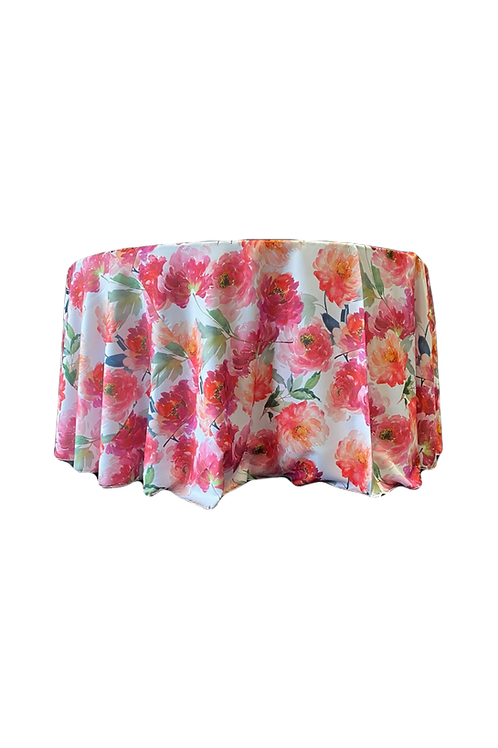 Linen Print Spring Blossom