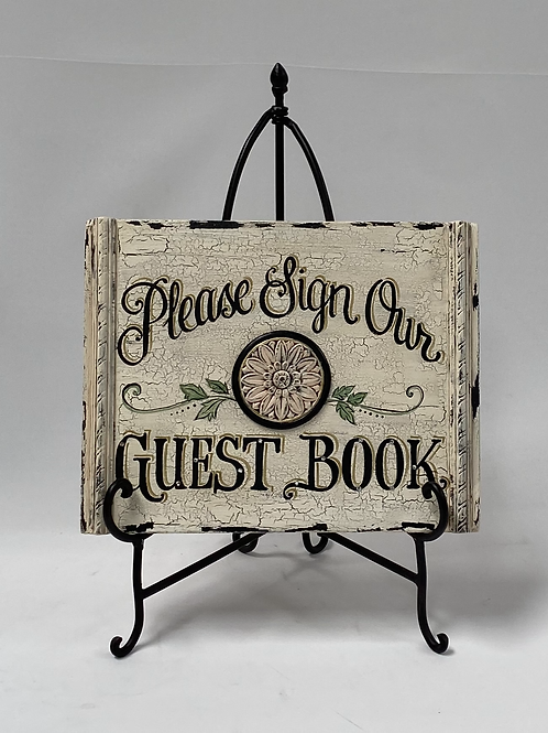 Please Sign Our Guestbook Hand Painted Sign
