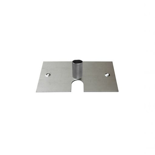 """8"""" x 14"""" base plate for 3' upright pole"""