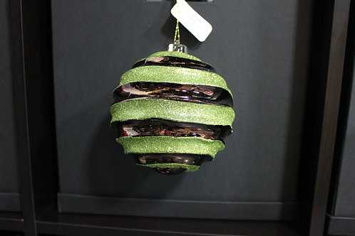 Chocolate/Sage Shatterproof Ornament