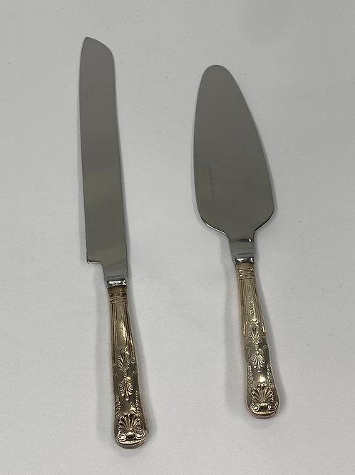 Silver Knife & Server Set