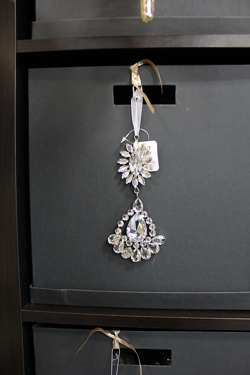 Teardrop Rhinestone Ornament