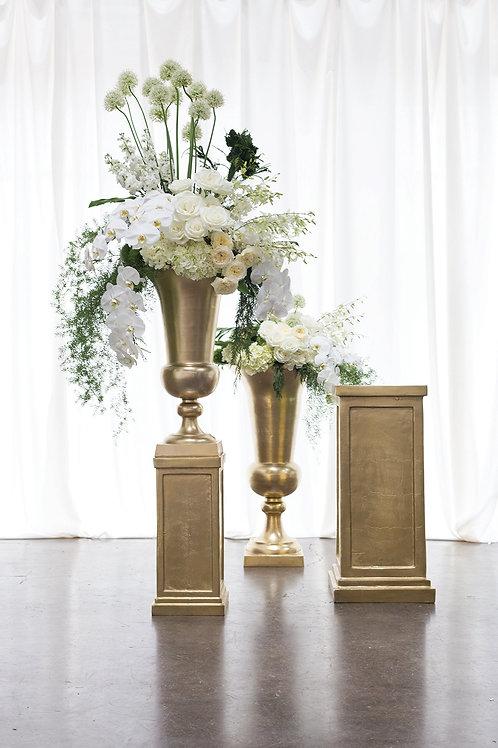 Gold Montego Floral Urn