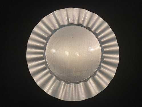 Silver Ruffle Charger