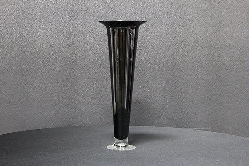 "24"" Black Trumpet Vase"