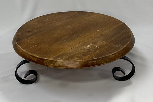 Lazy Susan Wooden Cake Stand