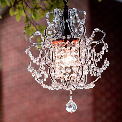 Small Bling & Iron Chandelier