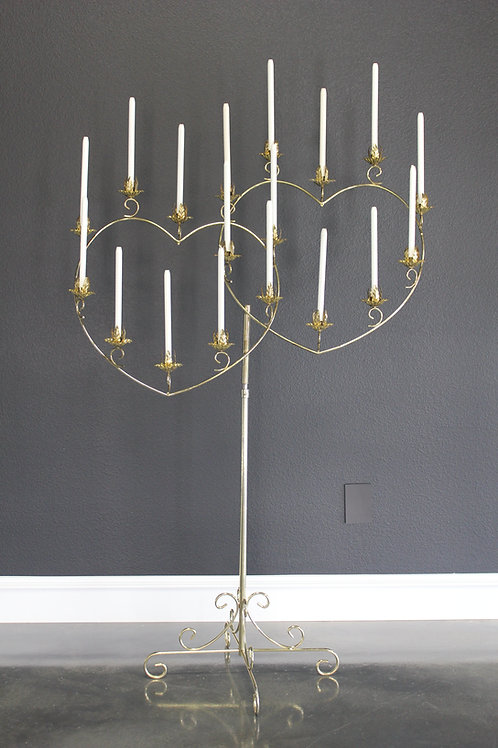Double Heart Candelabra 18 light