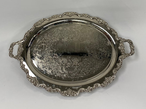 Footed Oval Tray