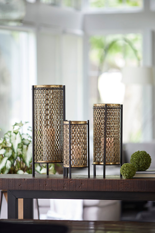 Gold Metal Candle Holders