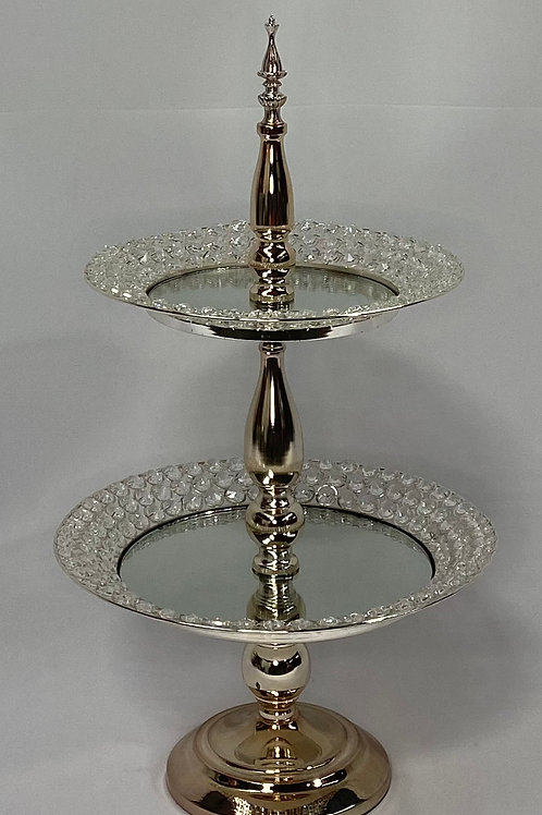 Bling 2 Tier Cupcake Stand