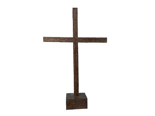 Dark Stain Wooden Cross 9' Tall x 6' Wide