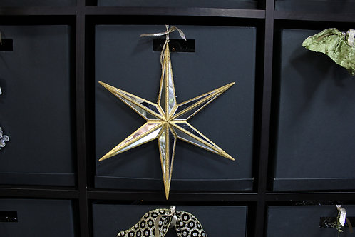 Gold Star with Mirror Inset