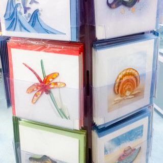 Beautiful greeting cards for sale at Bailey-Matthews National Shell Museum
