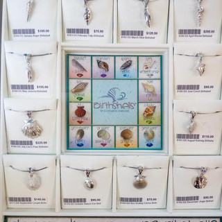 Jewelry for sale at Bailey-Matthews National Shell Museum