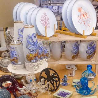 Homewares and other unique gifts for sale at Bailey-Matthews National Shell Museum