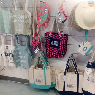 Totes and apparel for sale at Bailey-Matthews National Shell Museum