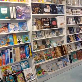 A wide selection of books for sale at Bailey-Matthews National Shell Museum